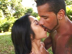 Hot Latina fucking outdoor
