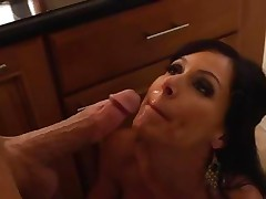 Kendra Lust gets her face doused with hot dick juice