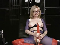 Nina Hartley loves tormenting her wet moist slot