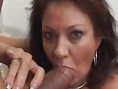 Vanessa Videl stuffs this hard dick down her mouth