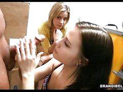 Brunette BrAndi Belle Acquires Her Face Cummed After A Nasty Hot Tugjob
