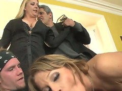 This is hot threesome fuck video with Herschal Savage, Nikki Sexx and Sonny Hicks, guys got the girl between them and fucking her in 2 holes at the same time!