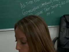 Horny school girl Jenna Haze pleases her hot teacher Michael Stefano with an amzing blowjob