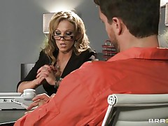 hot lawyer gets her tits licked