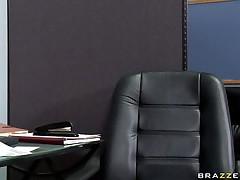 hot babe sucking cock under desk