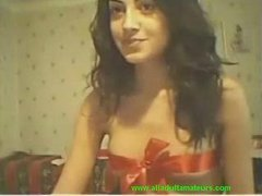 Cam: (no sound) College sweet cutie on cam for her bf