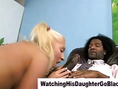 Interracial black guy fucks white teen girl