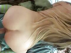 Bootylicious blonde in socks receives nailed doggy style