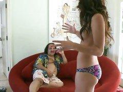 Sizzling AJ Estrada teases lucky Ron Jeremy