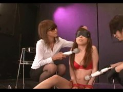 Asian Made To Orgasm Through Red Panties
