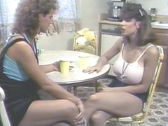 Erica Boyer &amp,amp, Christy Canyon Mash Gash in the Kitchen